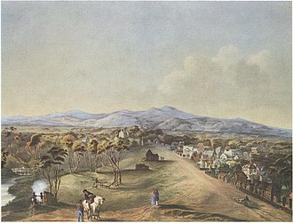 Adelaide - North Terrace in 1841