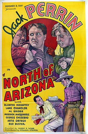 Jack Perrin - Perrin on the poster for North of Arizona (1935)