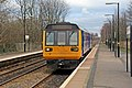 Northern Rail Class 142, 142048, Hough Green railway station (geograph 3819600).jpg