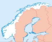 Stavanger auf der Karte von Norwegen