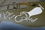 """Nose-Art on B-25J Mitchell '34064 8U' """"LI'L Critter From the moon"""" (30873131491).jpg"""