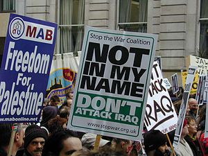 Stop the War Coalition - StWC Placard