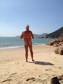 mixed gender nude groups beach