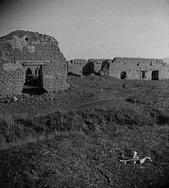 Mexican secularization act of 1833 - The ruins of Mission Nuestra Señora de la Soledad circa 1900.