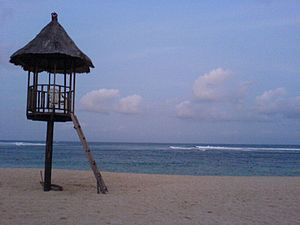 Evening at the Nusa Dua beach in Bali, Indonesia.