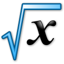 Square root of x formula. Symbol of mathematics.