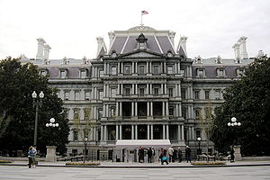 Eisenhower Executive Office Building - Image: OEOB Penn Avenue