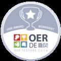 OER Festival 2016 - Badge - OER-Award Nominierter.png