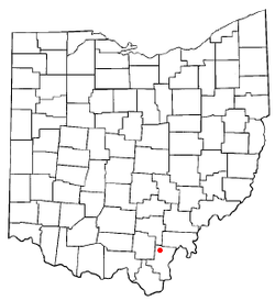 Location of Vinton, Ohio