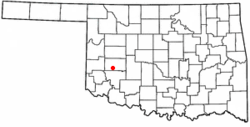 Location of Rocky, Oklahoma