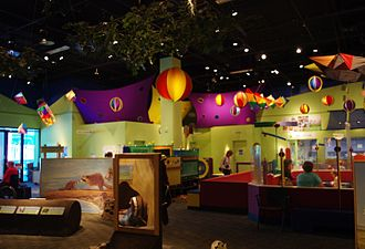 Oregon Museum of Science and Industry - The Science Playground on the second level