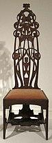 Oak chair made by Charles Rohlfs, 1898-99, Princeton University Art Museum