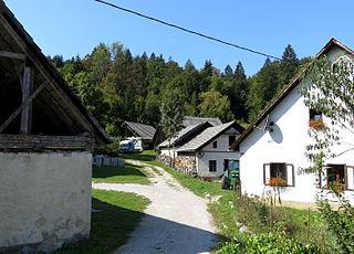 Občice Place in Lower Carniola, Slovenia