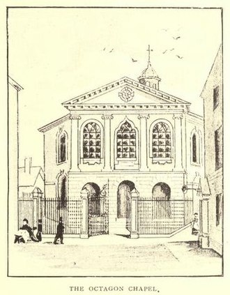 Matthew Dobson (physician) - The Octagon Chapel, Liverpool, pen-and-ink sketch