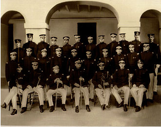 65th Infantry Regiment (United States) - Officer Staff of the Porto Rico Infantry (cir. 1906) Lt. Teófilo Marxuach pictured on top row, fifth L-R