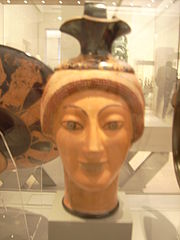 Oinochoe in Shape of a female head by Potter Charinos Antikensammlung Berlin 3.jpg