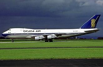 Okada Air - Okada Air Boeing 747-100, Manchester, 1993