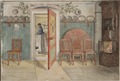 Old Anna. From A Home (26 watercolours) (Carl Larsson) - Nationalmuseum - 24205.tif