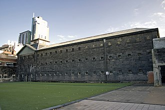 Old Melbourne Gaol - Exterior of the Old Melbourne Gaol.