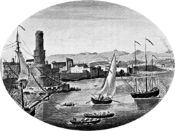 An illustration of pre-1692 Port Royal