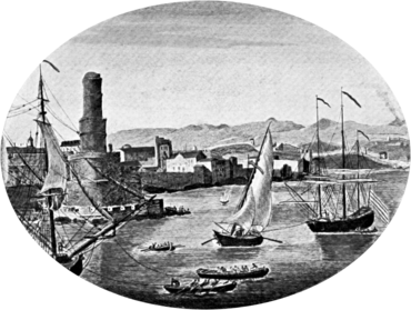 La vecchia Port Royal, centro della pirateria nei Caraibi nel XVII secolo. Fu distrutta da un terremoto nel 1692.