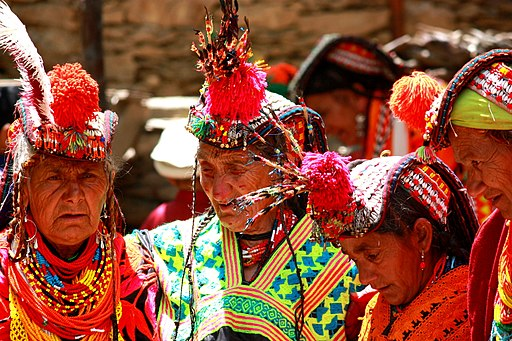 Old kalasha women pakistan
