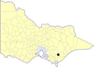 City of Traralgon - Location in Victoria
