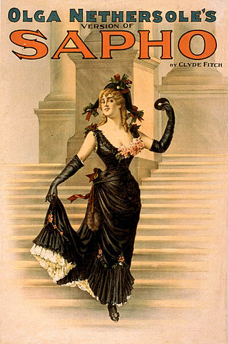 Olga Nethersole - Poster for the Clyde Fitch play, Sapho