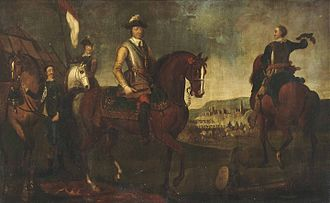 Battle of Worcester - Oliver Cromwell at the Battle of Worcester, 17th century painting, artist unknown