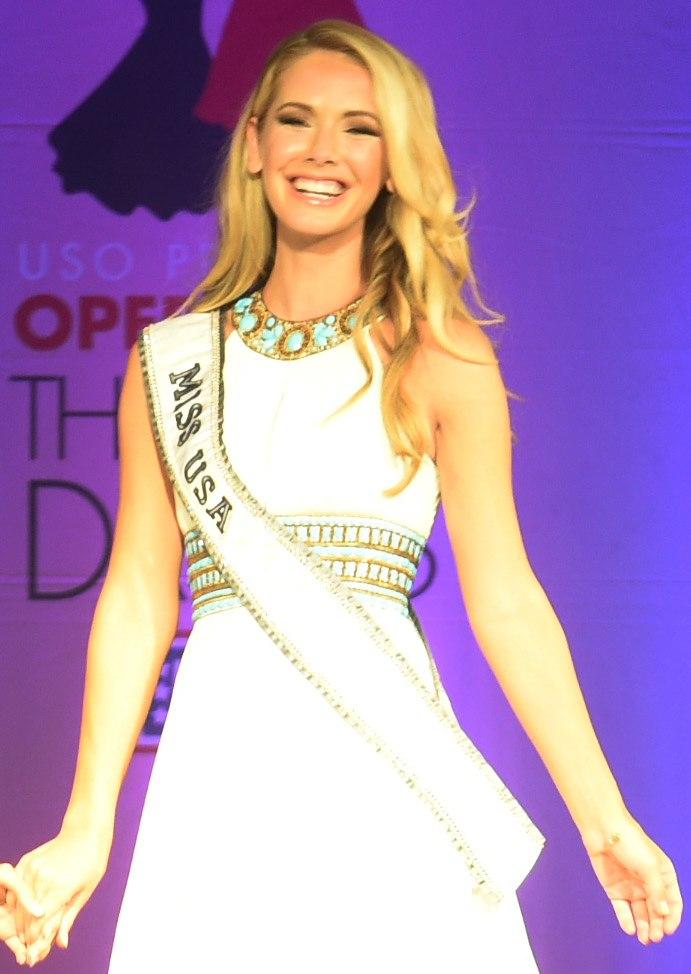 Olivia Jordan, 2015 Miss USA, at Operation That's My Dress