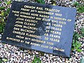 Omagh Rail Tragedy plaque, Dromore Road, Omagh - geograph.org.uk - 936093.jpg