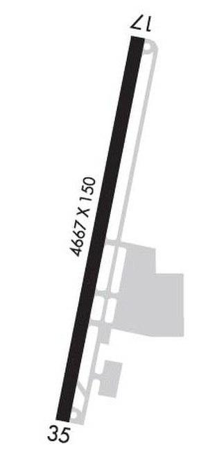 Omak Airport - Image: Omak Airport FAA diagram