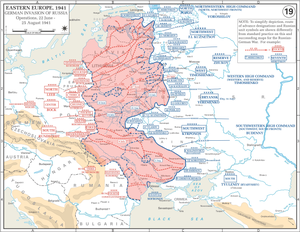 Position of Panzergruppe 1 Kleist at the opening phase of Operation Barbarossa