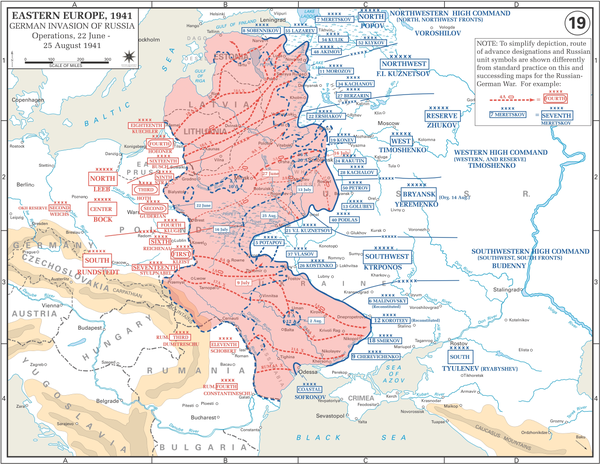German advances during the opening phases of Operation Barbarossa, August 1941 OperationBarbarossa.PNG