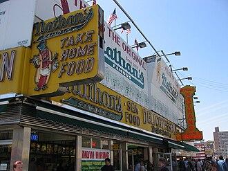 Nathan's Hot Dog Eating Contest - Nathan's original Coney Island location