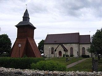 Orkesta Runestones - The church of Orkesta.