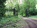 Ornate gates at the rear of Novington Manor - geograph.org.uk - 1315304.jpg
