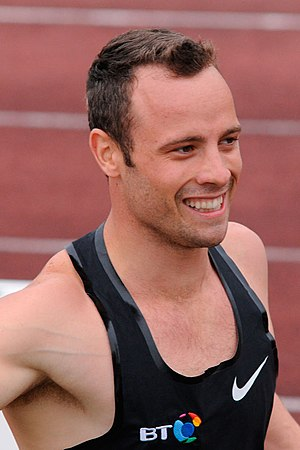 Oscar Pistorius - Pistorius after a race in the Second Kamila Skolimowska Memorial in Warsaw, 20 September 2011