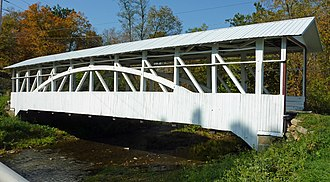 East St. Clair Township, Bedford County, Pennsylvania - Osterburg Covered Bridge