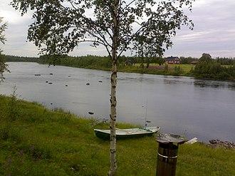 Ounasjoki - Ounajoki River above the rapids
