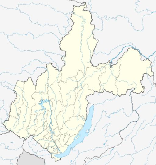 Outline Map of Irkutsk Oblast