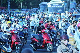 human overpopulation   wikipediathousands of scooters make their way through ho chi minh city  vietnam  concern about overpopulation