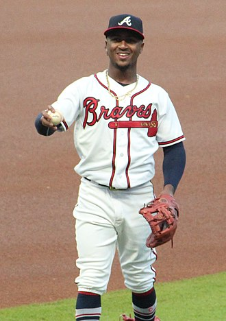 Ozzie Albies - Albies with the Atlanta Braves in 2018