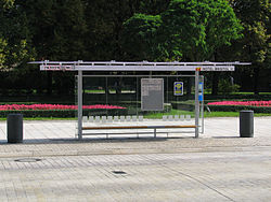 PL Warszawa przystanek autobusowy Krakowskie Przedmiescie