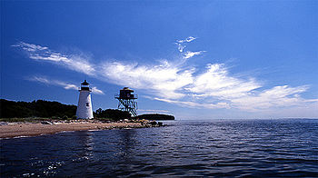 English: Pooles Island Lighthouse, Chesapeake ...