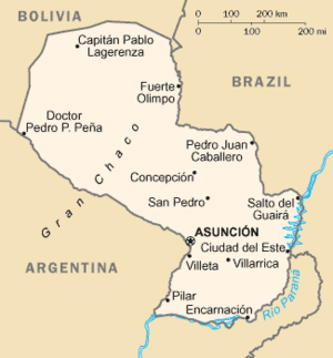 Geography of Paraguay - Map of Paraguay