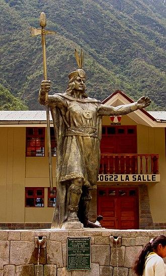 Pachacuti - Statue of Pachacuti, Aguas Calientes, Peru