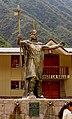 Pachacutec statue, Aguas Calientes, Peru.jpg
