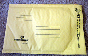Padded mailer - A padded mailer by Bubble Wrap