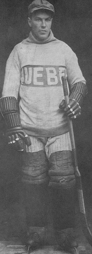 Paddy Moran (ice hockey) - Moran, posing in a Quebec Bulldogs sweater later in his career
